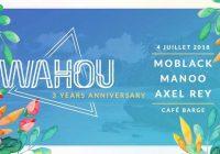 WAHOU x MoBlack Base at Café Barge